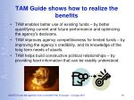 tam guide shows how to realize the benefits