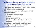 tam guide shows how to tie funding to performance based outcomes