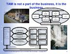 tam is not a part of the business it is the business