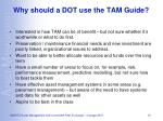 why should a dot use the tam guide