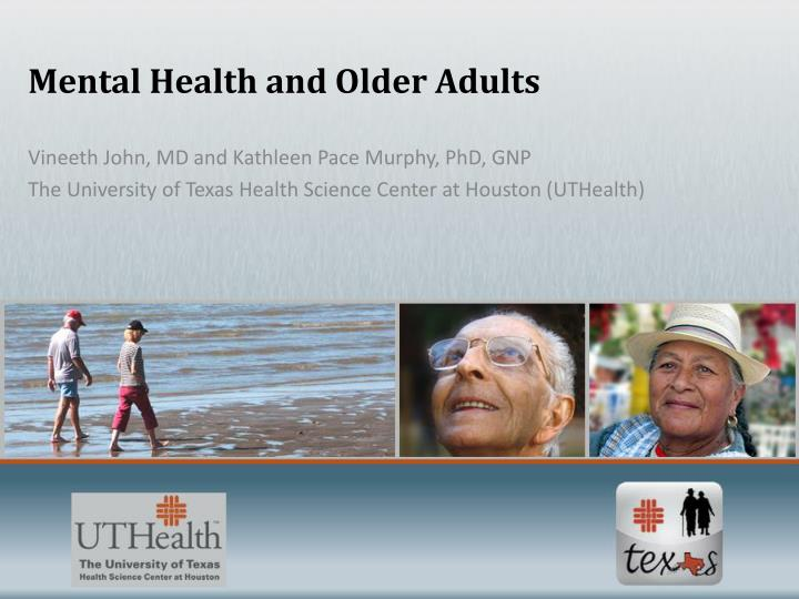 mental health and older adults n.