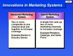 innovations in marketing systems