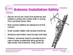 antenna installation safety
