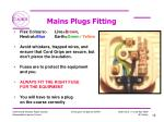 mains plugs fitting