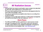 rf radiation issues