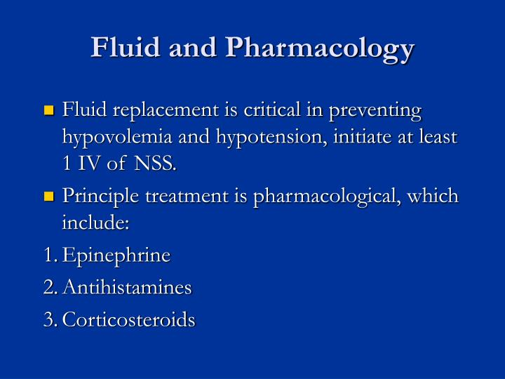 Fluid and Pharmacology