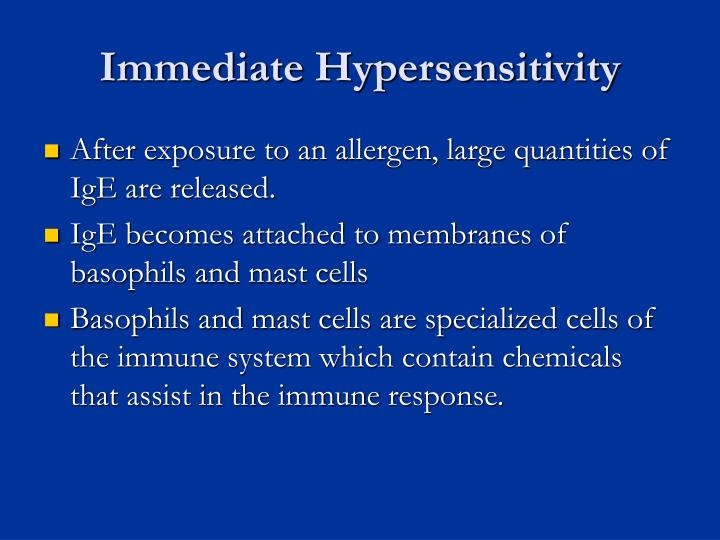 Immediate Hypersensitivity