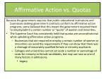 affirmative action vs quotas