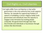 civil rights vs civil liberties