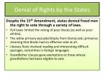 denial of rights by the states
