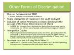 other forms of discrimination