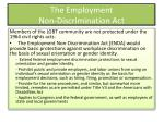 the employment non discrimination act