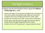 the right to marry