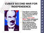 cuba s second war for independence