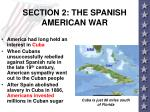 section 2 the spanish american war