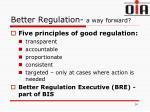 better regulation a way forward