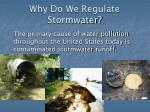why do we regulate stormwater