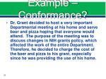 example conformance