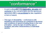 what does conformance mean