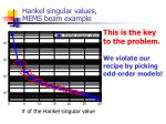 hankel singular values mems beam example1