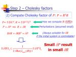 step 2 cholesky factors