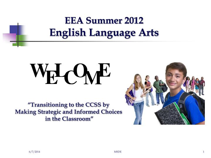 eea summer 2012 english language arts n.