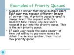 examples of priority queues