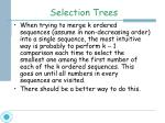 selection trees