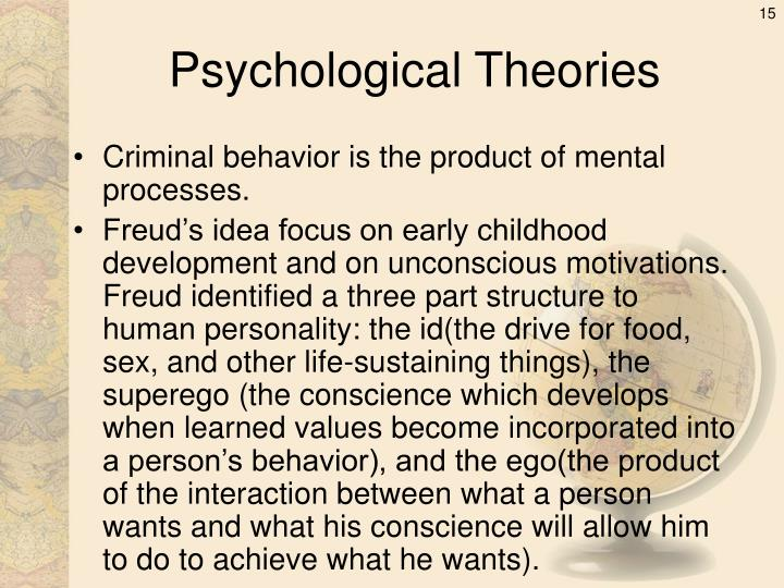 the psychological and biological circumstances that makes a criminal This hub takes a look at biological, socialisation, societal and community theories on criminal behaviour that were developed from research carried out by psychologists.