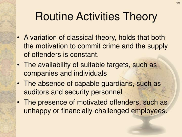 the routine activities theory essay Essay on daily routine at home in the morning—i am a student so i spend the day in a simple way i get up from bed early in the morning first, i do my morning duties.