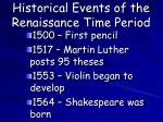 historical events of the renaissance time period1