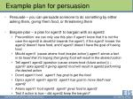 example plan for persuasion