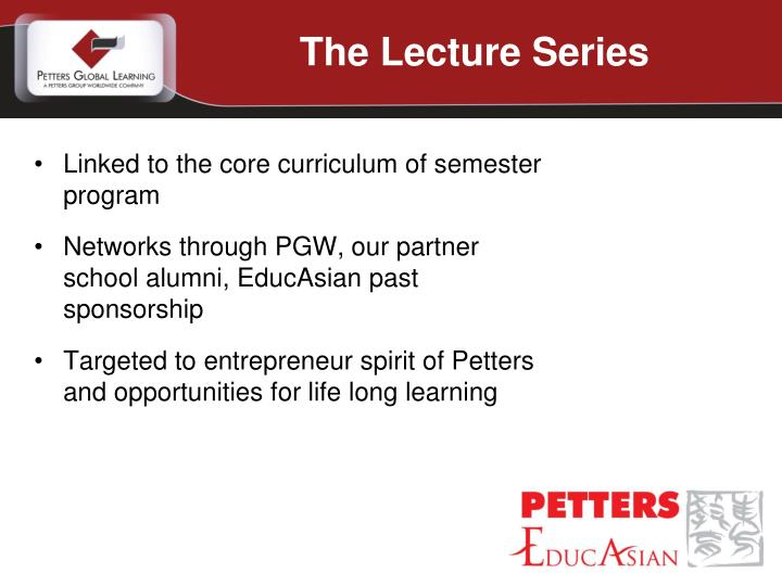 The Lecture Series
