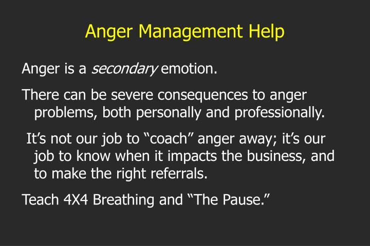Anger Management Help