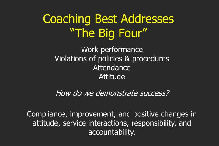 Coaching Best Addresses