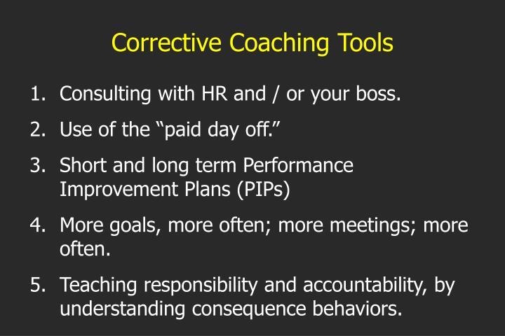 Corrective Coaching Tools
