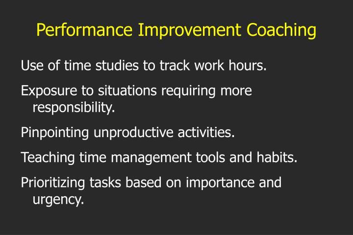 Performance Improvement Coaching
