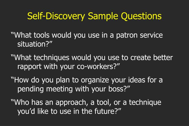 Self-Discovery Sample Questions