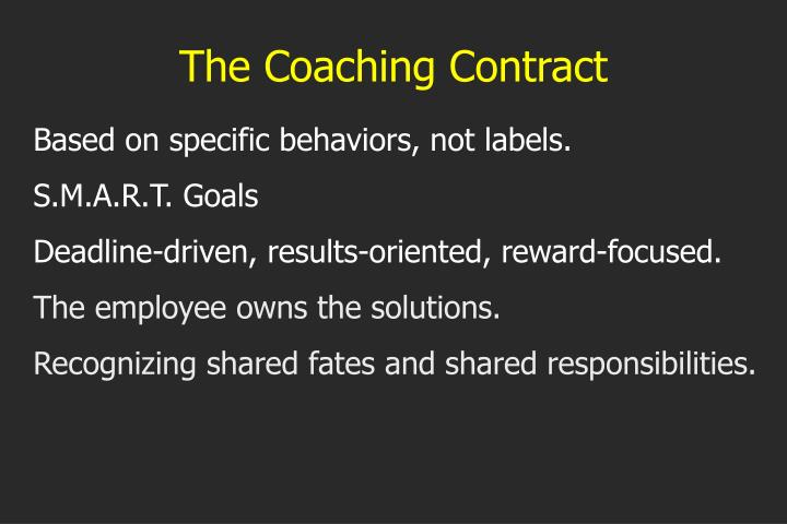 The Coaching Contract