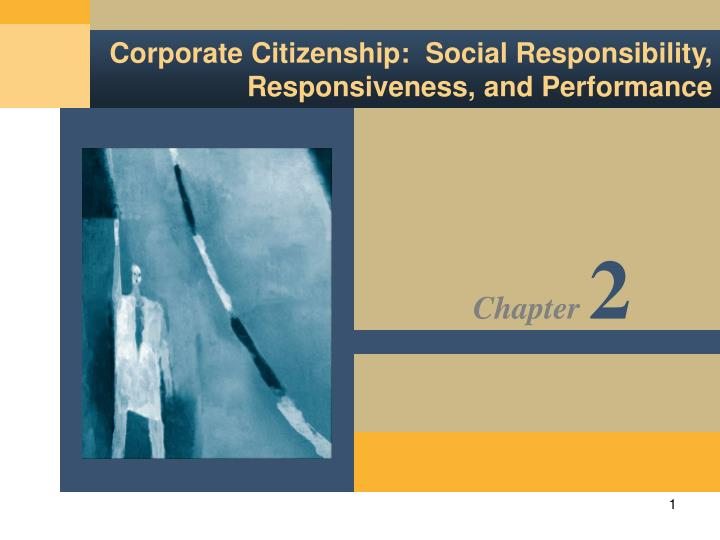 corporate citizenship social responsibility responsiveness and performance n.