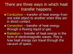 there are three ways in which heat transfer happens