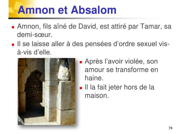 Amnon et Absalom