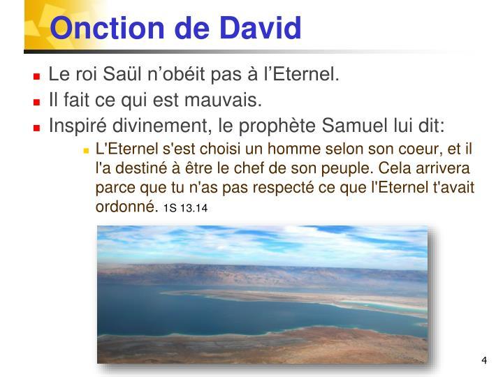 Onction de David
