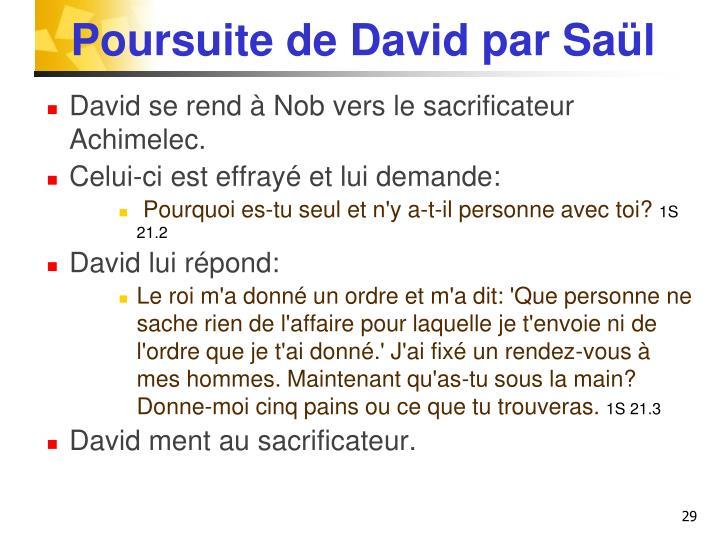 Poursuite de David par Saül