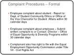 complaint procedures formal