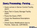 query processing parsing