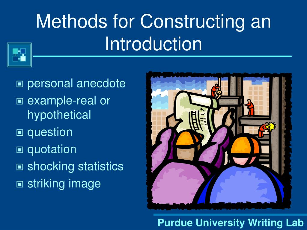 Methods for Constructing an Introduction