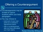 offering a counterargument16