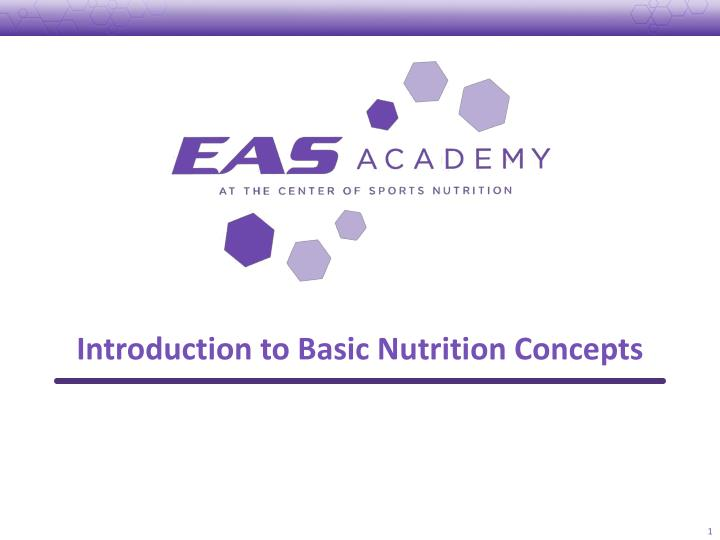 introduction to basic nutrition concepts n.