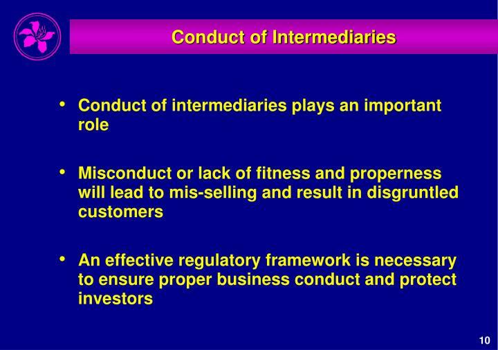 Conduct of Intermediaries